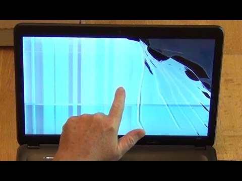How to replace a broken display HP Model 2000 laptop