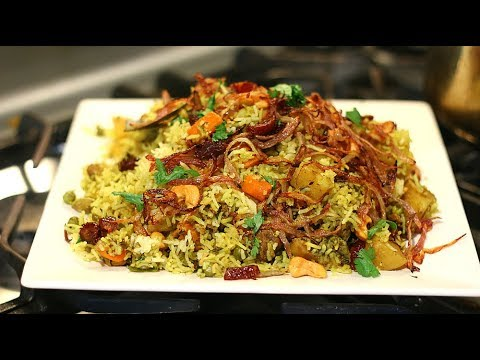 20 minutes Easy Vegetable Biryani In Pressure Cooker with english translation (in description box)