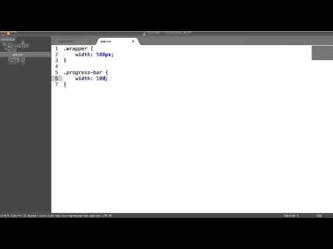 Simple Pure CSS Progress Bar