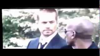 Fast and the Furious 7 Leaked Scene. Paul Walker Attends Funeral.
