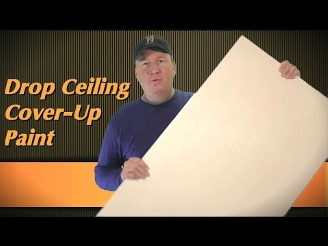 Drop Ceiling Touch-Up Paint Review:  Armstrong vs Kilz Upshot