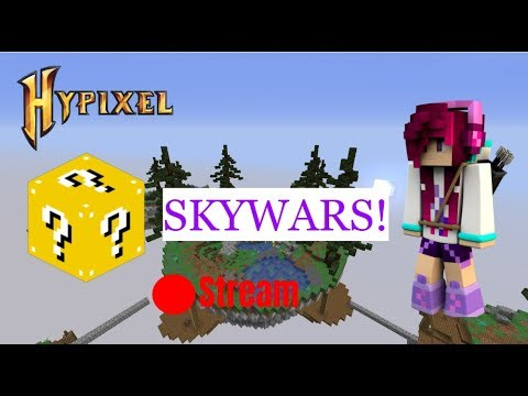 🔴 Live! // Playing Lucky Block Skywars on Hypixel with my Fans!