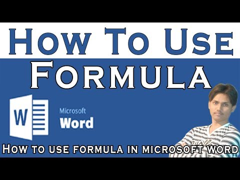How To Use Formula In Microsoft Word Part 22 Tutorial In Urdu or Hindi