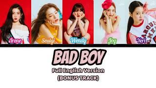 Red Velvet(레드벨벳)- Bad Boy English Version[Color Coded Lyrics] [Bonus Track]