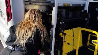 2016 J Manual wheelchair lift operation