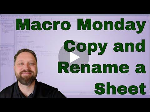 Macro Monday Copy a Sheet and Name It