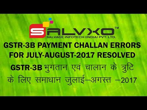 GTSR-3B GST Challan Errors while Payment of Tax deposit status INITIATED,  NOT PAID, FAILED