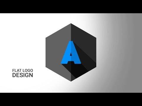 How to Create logo Flat Shadow in Photoshop CS6 | Logo Design tutorial
