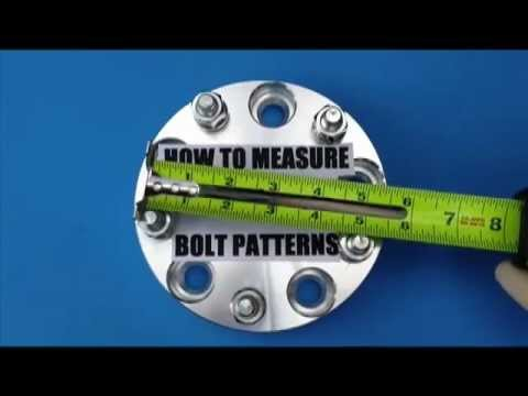 How to measure a 5 lug wheel bolt pattern