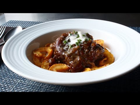 Cider-Braised Pork Shoulder - Pork Stewed in a Creamy Apple Cider Sauce