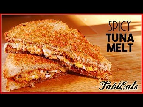 Spicy Tuna Melt (RECIPE) 【激ウマ】サクッとたまらない、スパイシー・ホットツナサンドイッチ、出来ました。