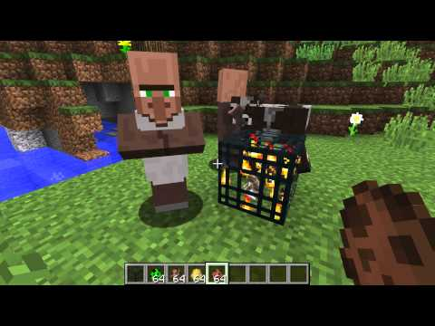 MOB SPAWNERS! in a new minecraft snapshot, make spider, creeper, endermen, ghast, or even bunny spaw