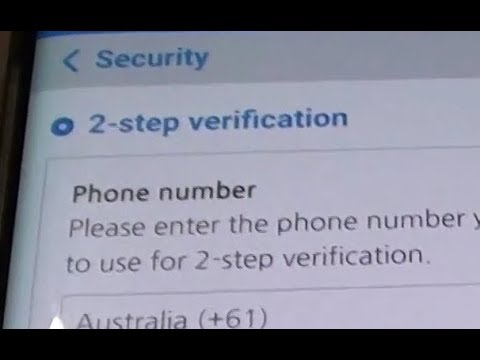 Samsung Galaxy S8: How to Enable / Disable 2 Step Verification on Samsung Account