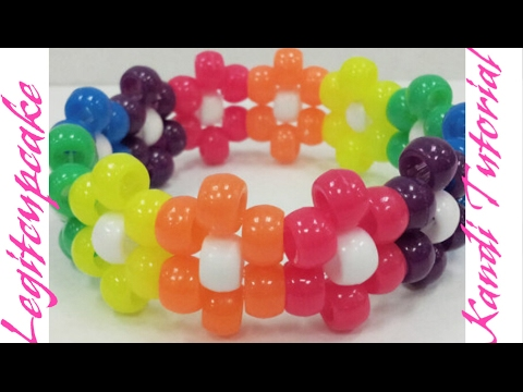 Kandi Tutorial: How To Make A Simple Flower Cuff