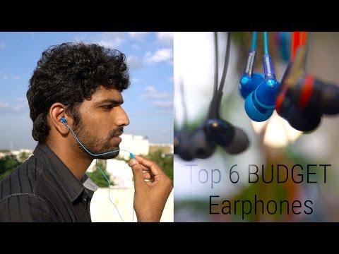 Top 6 Budget Earphones under 1000 Rupees (or) $15