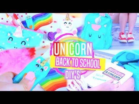Unicorn School Supplies DIY's + GIVEAWAY!