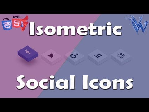 CSS isometric social media icons | css3 hover animation | HTML Tutorial By Amazing Techno Tutorials