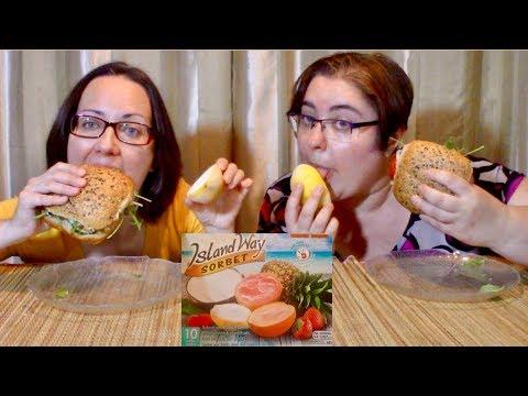 Sandwich And Lemon Sherbet | Gay Family Mukbang (먹방) - Eating Show