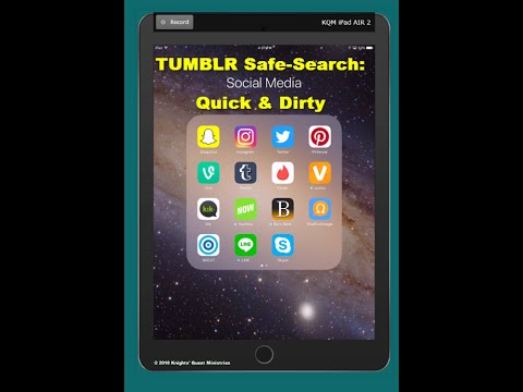 TUMBLR SAFE SEARCH - Quick and Dirty