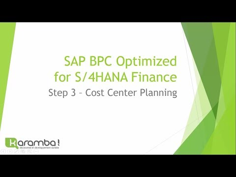 SAP S/4HANA BPC OPTIMIZED Step3: Capex & Costs Planning Integrated Business Planning IBPF IBP