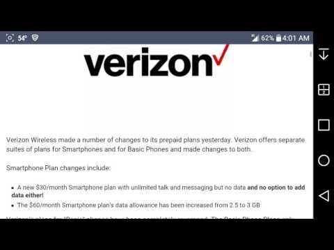 Verizon Adds $30 Prepaid Smartphone Plan With No Data
