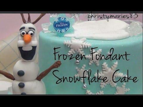 Disney Frozen Snowflake Fondant Cake