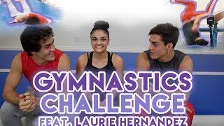 Gymnastics Challenge with Laurie Hernandez!!