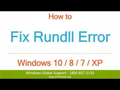 How to Fix Rundll Error