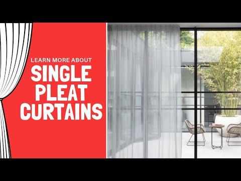 Single Pleat Curtains