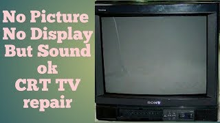 No picture No Display But sound ok  SAINSUI CRT TV repair in Hindi