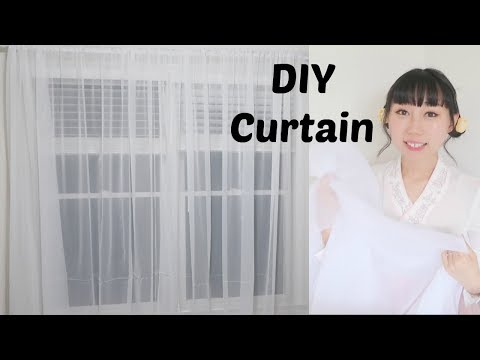 Home DIY: Making Simple Sheer Curtain | Easy Sewing