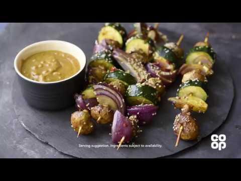 Co-op Food   Vegan Satay Skewers