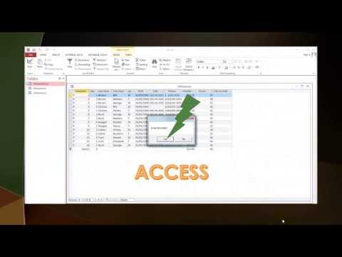 Using VBScript to email records from an Access table, query, or report.