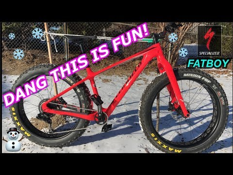 Specialized Fatboy Carbon Comp Test Ride and Review | Fatbiking winter riding | New Bike Day
