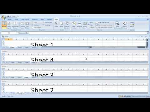 Excel 2007 - Arranging Windows