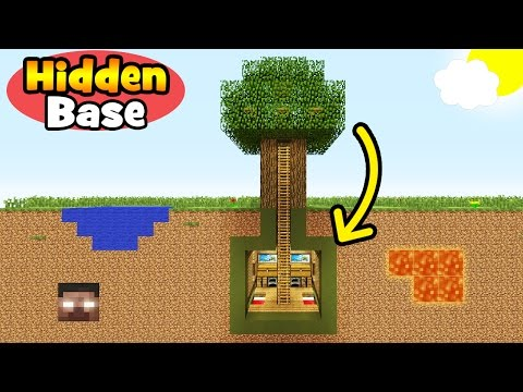 Minecraft Tutorial: How To Make an Underground Tree Base!