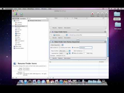 How to use Automator (Demo with image scaling and renaming)