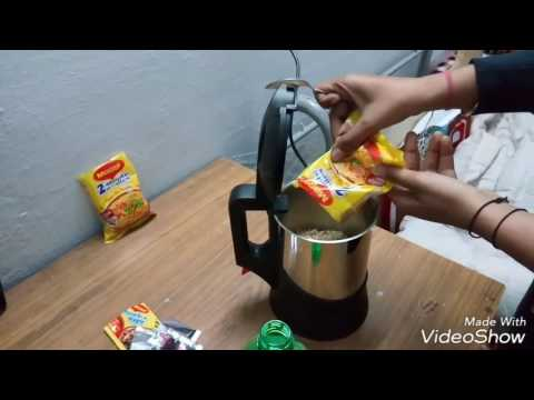 Make maggi in kettle only in mins.