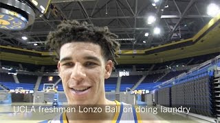 Lonzo Ball learns laundry at UCLA