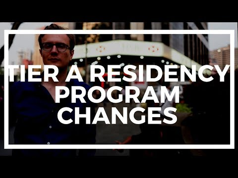 Tier A residency program to become more expensive