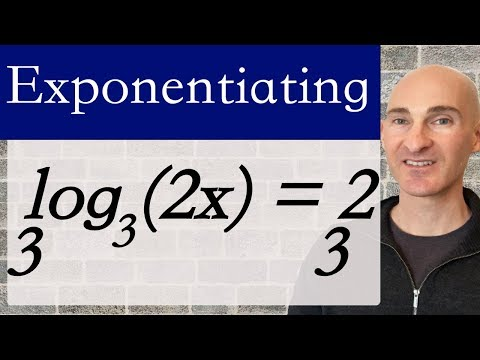 Exponentiating to Solve Log Equations