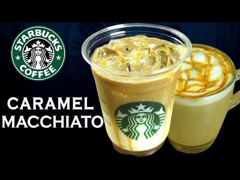 How to make Caramel Macchiato/ Iced Caramel Macchiato like STARBUCKS at home | Yummylicious
