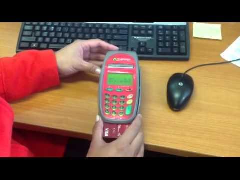 Using an EFTPOS machine
