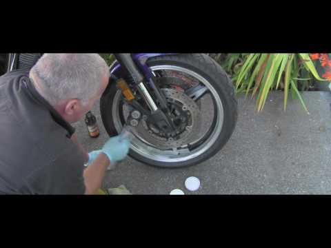 How to clean and polish motorcycle aluminum rims
