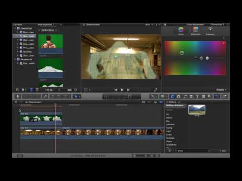 Lær at lave et spøgelse vha. green screen i Final Cut Pro X