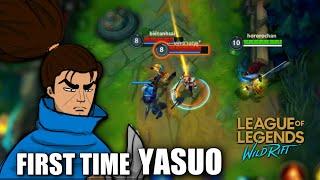 MY FIRST GAME USING YASUO | WILD RIFT