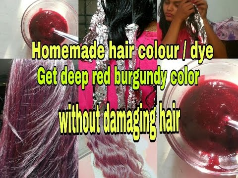 100% natural method to dye your hair Get deep red burgundy color on hair without damaging hair