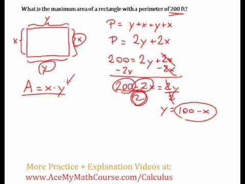 Optimization (Calculus) - Maximizing Area Question