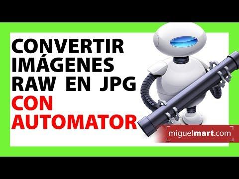 Convertir Fotografías RAW a JPG en Mac con Automator TIP #01