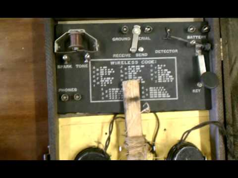 Spark gap telegraph transceiver set